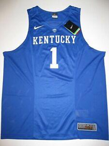 ba371dec14f Kentucky Wildcats Blue #1 XL Nike Elite Authentic Basketball Jersey ...
