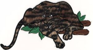 Jungle Safari Furry Guépard Imprimé Rôdant Panthère Broderie Patch
