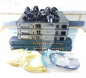 Cisco-CCNA-CCNP-LAB-KIT-DE-DEMARRAGE-1841-Routeur-3560-SWITCH-WIC-cartes-ETTD-DCE-Cables
