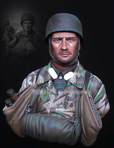 1-10-Scale-Paratrooper-Soldier-Bust-Model-Unpainted-Figure-Garage-Kits-Statue