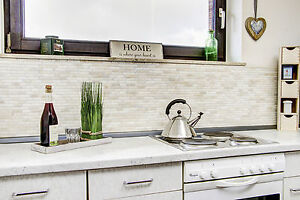 Küchenrückwand Fliesenspiegel Brick uni Botticino Marmor Mosaik Art ...