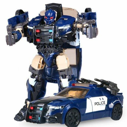 Barricade HBM Transformation TF5 Police Car Action Figure Voyager Robot Toy 20cm