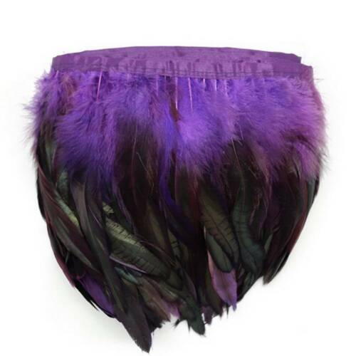 Multicolor Chicken Rooster Tail Feather for Dress Skirt Craft Feather Trims