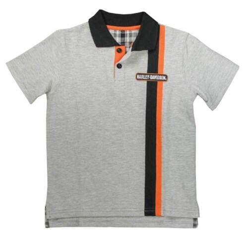 Gray 1081637 Harley-Davidson Little Boys/' Bar /& Shield Short Sleeve Pique Polo