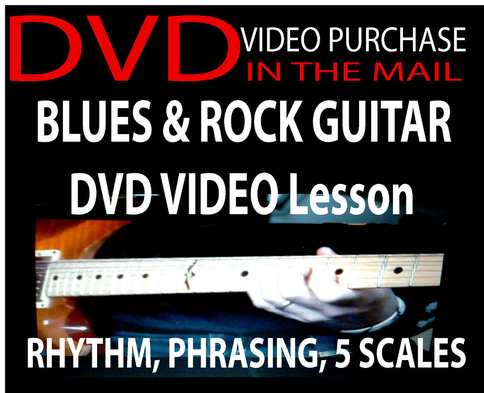 Details about Blues Lead Guitar Lessons DVD Video Learn to Play With Scales