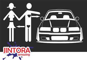 Sticker-Car-Decal-car-love-bmw-e-36-196x99-mm-JDM-Die-Fun-White-1124
