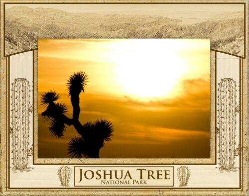 5 x 7 Joshua Tree National Park Laser Engraved Wood Picture Frame