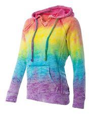 Weatherproof Ladies W1162 TIE DYE Hooded Pullover Fleece Sweatshirt S-2XL hoodie