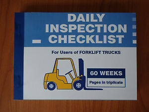 Daily inspection checklist book for forklift operators ebay image is loading daily inspection checklist book for forklift operators publicscrutiny Image collections