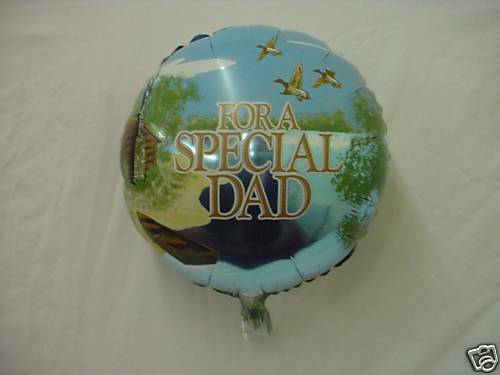 """18 Inch /""""For a Special Dad/"""" Message Foil Balloon BL48"""