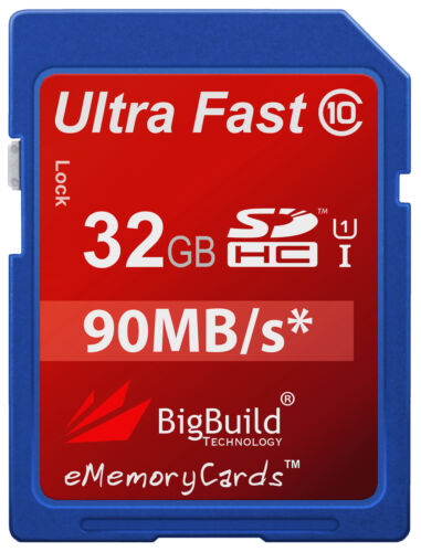 32GB Memory card for Nikon Coolpix P5000 CameraClass 10 90MB//s SD SDHC New UK