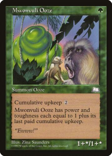 Mwonvuli Ooze Weatherlight HEAVILY PLD Green Rare MAGIC GATHERING CARD ABUGames