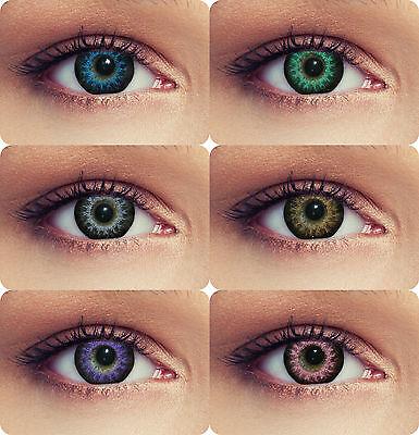 Farbige Cosplay Farblinsen Kontaktlinsen mit Stärke Design: High intensive