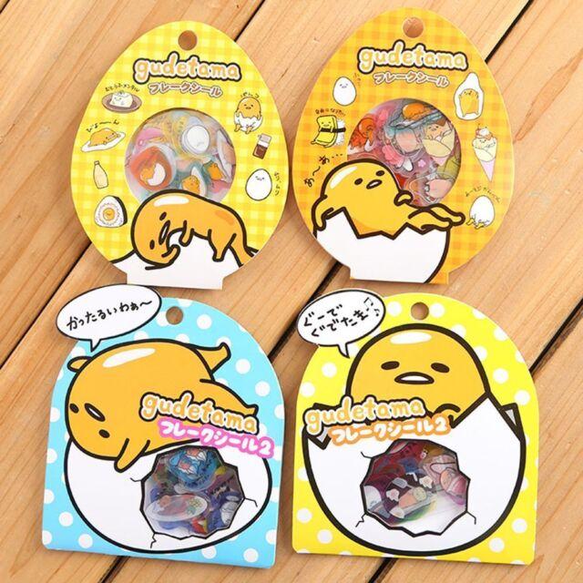 Newly 50pcs DIY Cute Kawaii PVC Stickers Lovely Gudetama Lazy Egg Sticker Decal