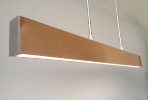 Details About Rose Gold Linear Suspension Ceiling Light Led Pendant Modern Elegant Lighting