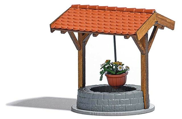 Busch Covered Well with Flowers 1524 1:87