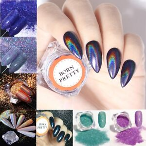 Image Is Loading Nail Glitter Powder Dust Holographic Art Chrome