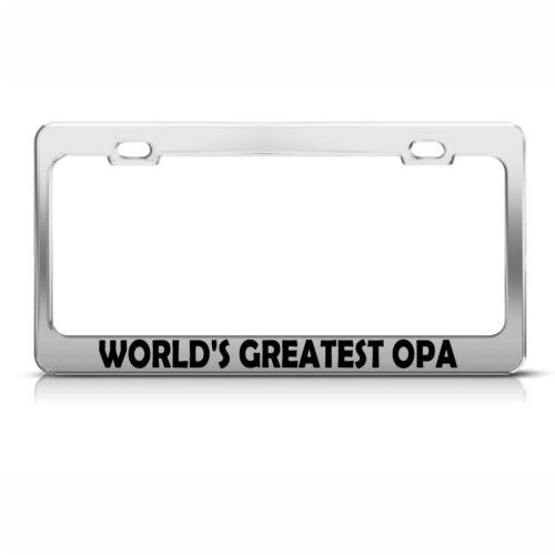 World/'s Greatest Opa Chrome Metal License Plate Frame