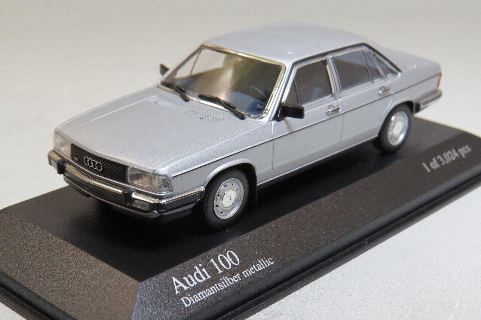 Audi 100 l diamantsilber metallic 1 43 minichamps 400015100