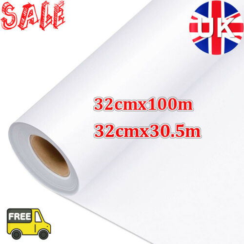 UK Clear Vinyl Application Tape Sticky Decal Stiker Transfer Paper Roll 30//100M