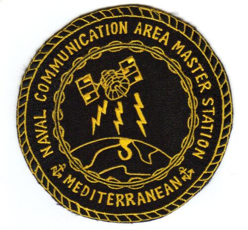 NAVAL COMMUNICATION  AREA MASTER STATION PATCH MEDITERRANEAN     Y