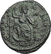 THEODOSIUS I 378AD  RARE  Ancient Roman Coin Constantinopolis seated i34894