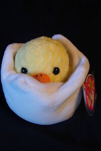 9afe9f4b961 TY Beanie Babies NWT ERROR No Tush   Chick in Egg EGGBERT 5th Gen