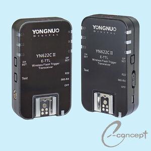 YONGNUO-Wireless-TTL-Flash-Trigger-YN622-II-YN-622C-II-High-Sync-Speed-for-Canon