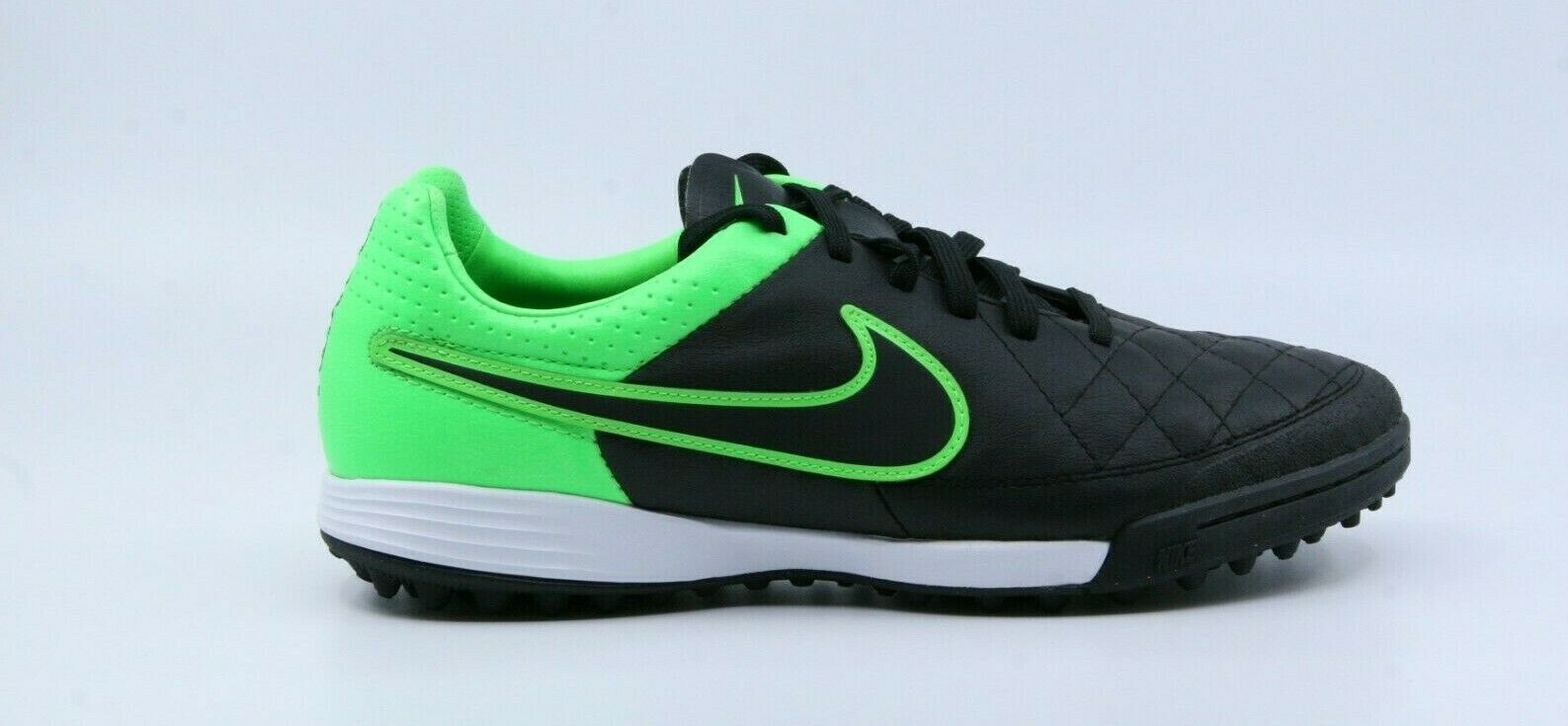 Nike Tiempo Legacy TF Men's Black Green Turf Soccer shoes Size 6.5 631517-003