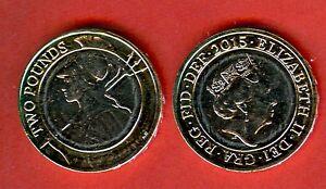 GREAT BRITAIN UNC 2.00 Paunds 2015 Britannia 2 £ issue 2015