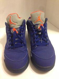 719279f8175 Nike Air Jordan 5 V Retro Low Knicks NY Royal Blue Orange Size 10 ...