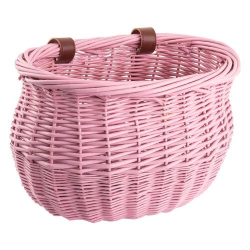 Sunlite Basket Ft Willow Bushel Pnk Strap-On 13X8X9