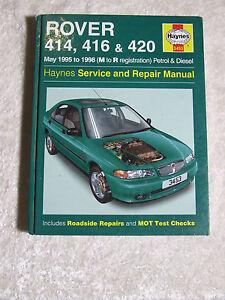 rover 414 416 420 petrol diesel haynes service repair manual rh ebay com Rover 214 Rover Automobiles