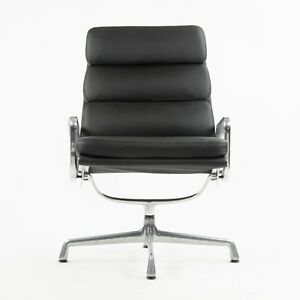 Vintage Eames Herman Miller Soft Pad Aluminum Group Lounge Chair