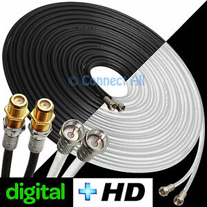 SKY+HD+Q DIGITAL TV BOX EXTENSION/SATELLITE DISH CABLE DOUBLE/2 WIRE ...