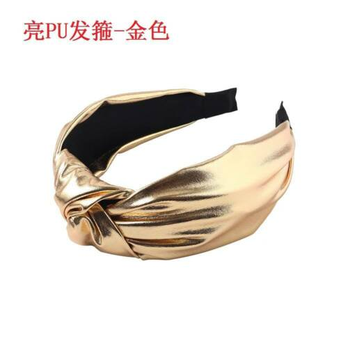 Details about  /Fashion Women Leather Knot Headband Wide Hairband Tie Hair Band Hoop Accessories