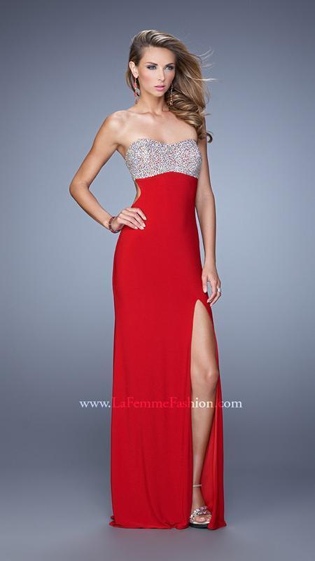 378 NWT RED LA FEMME FEMME FEMME PROM PAGEANT FORMAL DRESS GOWN SIZE 4 6c8eab