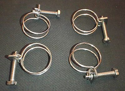 """2 PC STAINLESS STEEL 15/"""" HOSE DUCT CLAMP RANGE 11/""""-15/"""" HC400"""