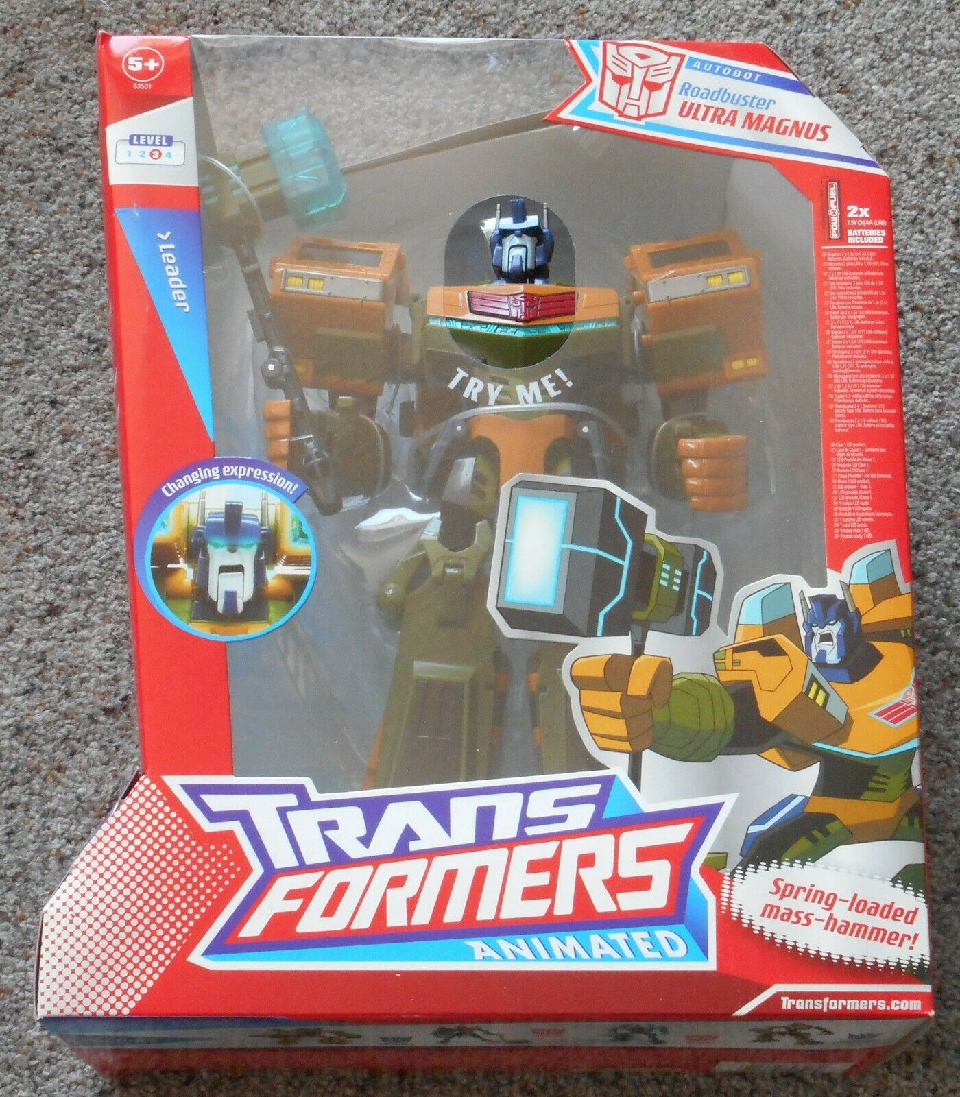 Roadbuster   ULTRA MAGNUS     Hasbro Transformers Animated  Mint Sealed Working