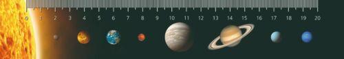 3D Lineal – Planeten unseres Sonnensystems Weltall Himmelskörper Weltraum