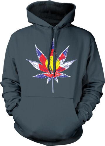 Colorado Flag Marijuana Leaf Weed Shape Letter C Pot Legal In Hoodie Sweatshirt