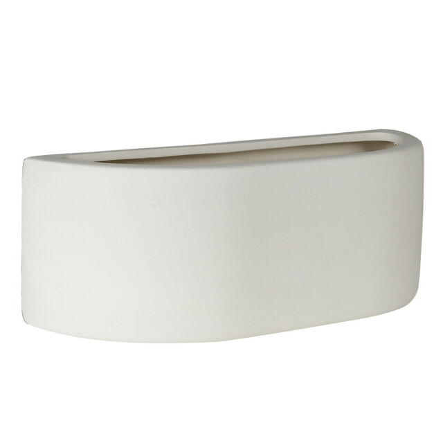 Modern Curved White Ceramic Up Down Lighter Plug In Wall Light Home Lighting