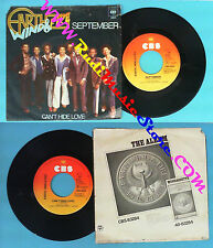 LP 45 7'' EARTH WIND & FIRE September Can't hide love 1978 holland no cd mc dvd