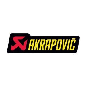 Nuovo-Originale-Akrapovic-Scarico-Alluminio-Adesivi-Piccolo-Orizzontale-P-HST6AL