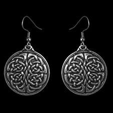 UNITY KNOT Oberon Design EARRINGS Pewter nickel-free hooks celtic ER03