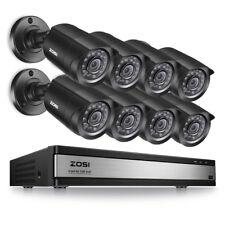 ZOSI 16 CH Channel 720p DVR (8) 1500tvl Surveillance Security Camera System US