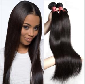 Straight-Unprocessed-Brazilian-Virgin-Human-Hair-Extensions-100g-Weave-weft