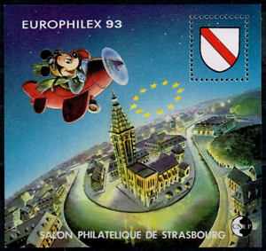 Timbre France Bloc Cnep N°17 Neuf** Europhilex Mickey ( Salon Philatélique ) RéTréCissable