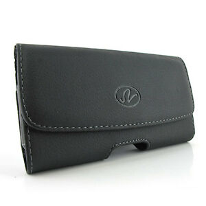 Motorola-Droid-X2-leather-horizontal-pouch-fit-with-Otterbox-defender-case-on-it