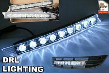 AUDI A4 A6 A3 PASSAT GOLF DRL LIGHT DAYTIME RUNNING STRIP 9 LED WHITE BRIGHT MK5